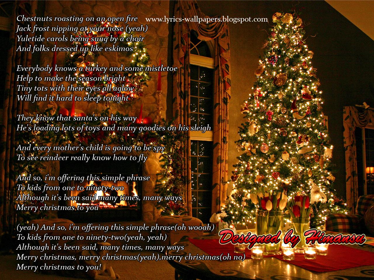 Lyrics Wallpapers: Justin Bieber - The Christmas Song ft. Usher