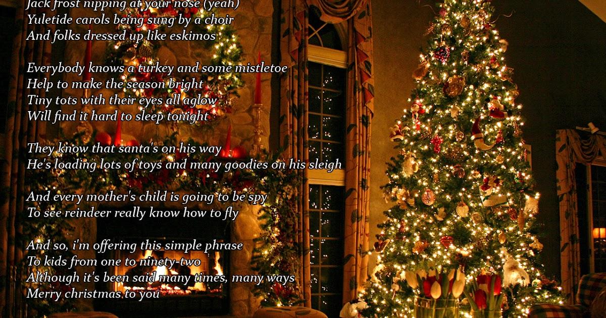 Lyrics Wallpapers Justin Bieber The Christmas Song Ft Usher