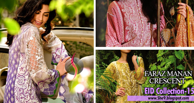 Crescent - Faraz Manan Eid Lawn Collection 2015