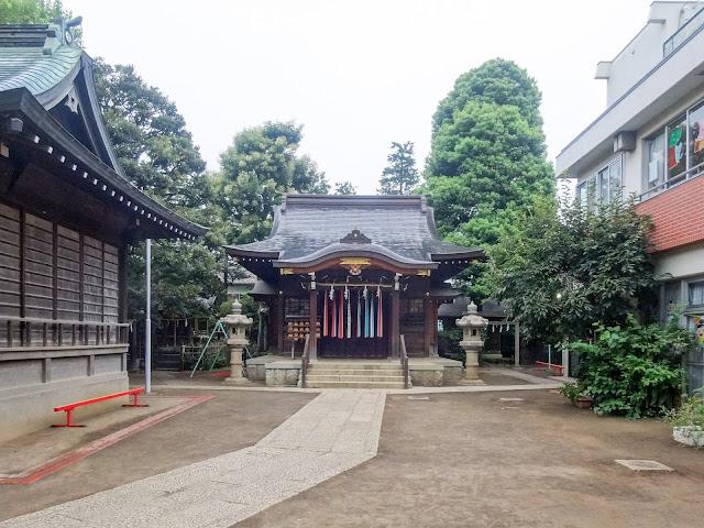 月見岡八幡神社,神楽殿,拝殿,新宿,落合〈著作権フリー無料画像〉Free Stock Photos
