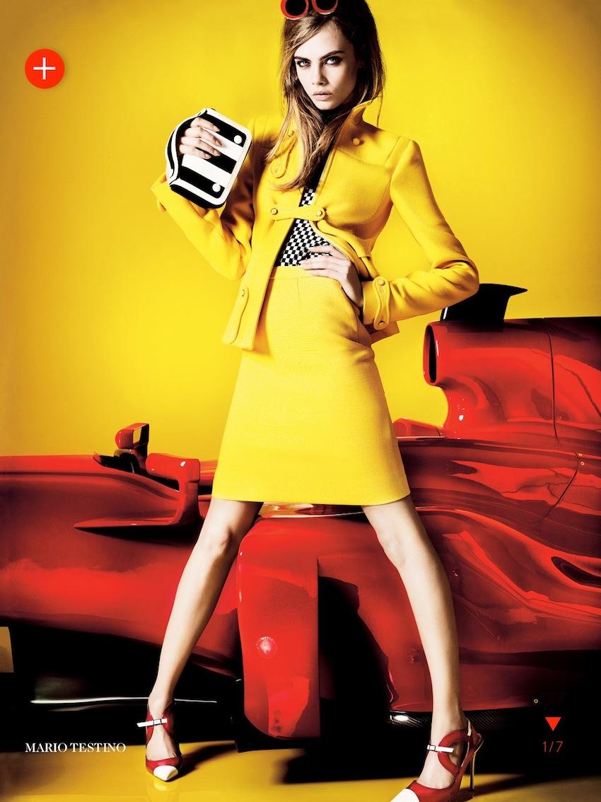 Smile: Cara Delevingne in Vogue UK March 2013 by Mario Testino