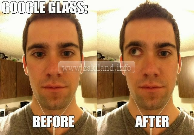Inconvénient de l'utilisation des lunettes Google glass عيوب استعمال نظارات غوغل before after avant après
