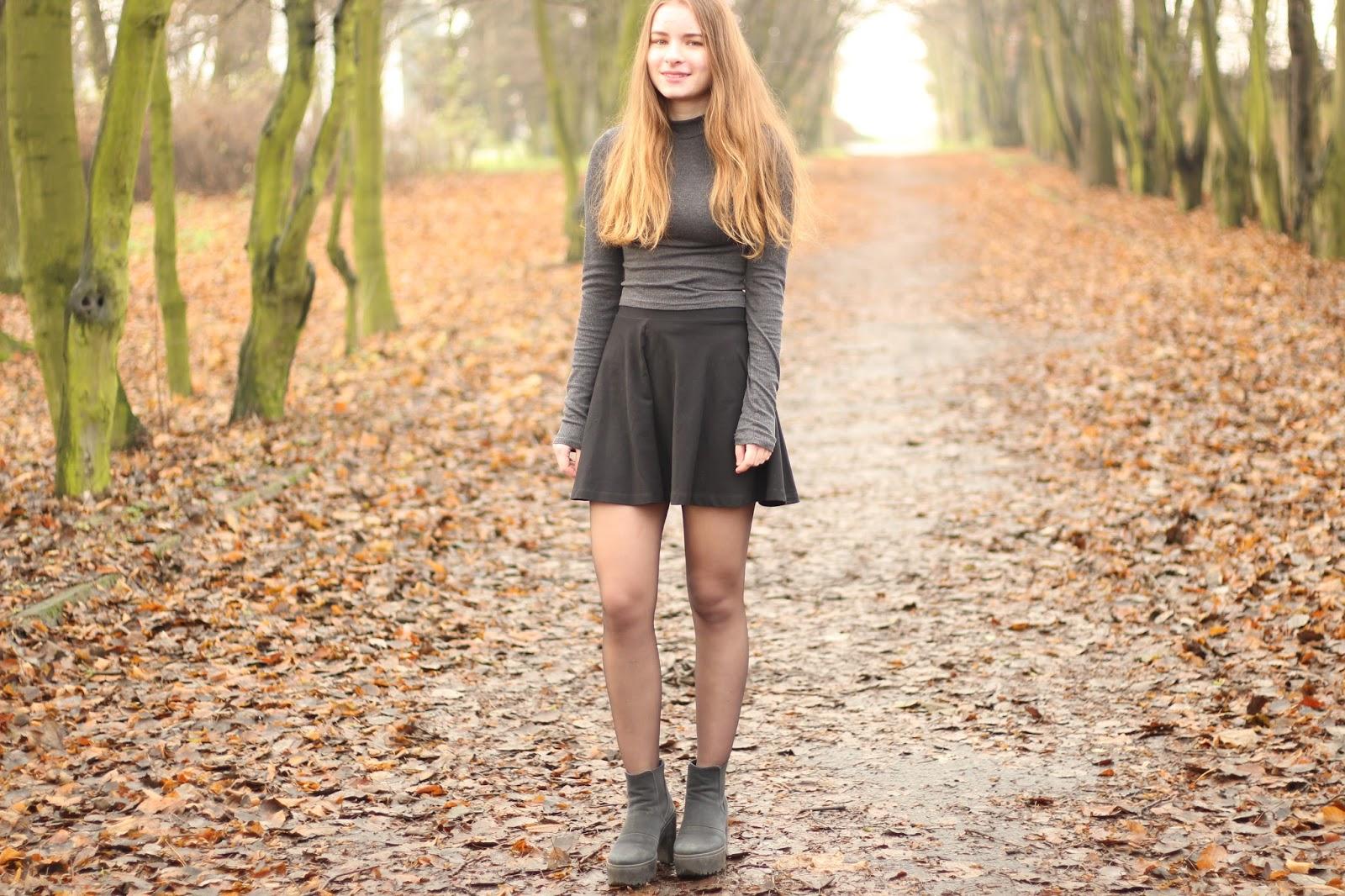 minimalizm ootd do szkoły outfit basic jesień zima