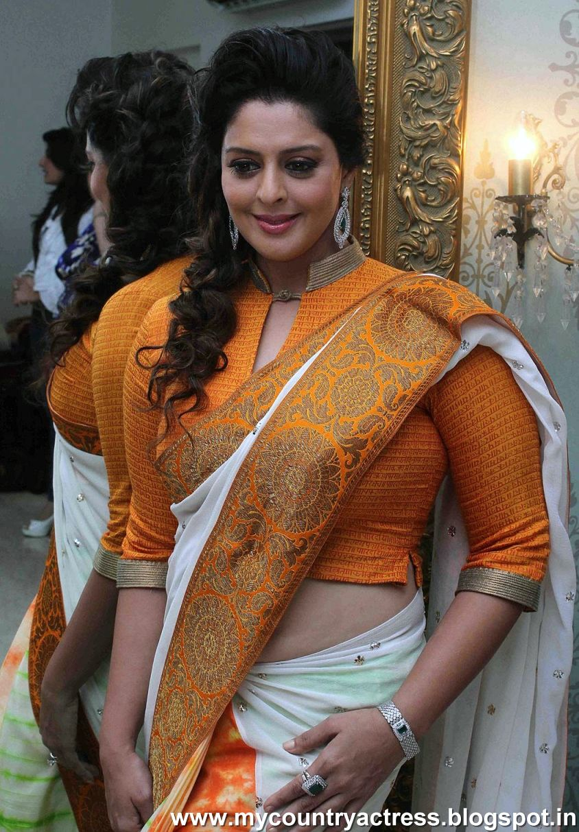 my country actress nagma aunty latest photos in saree