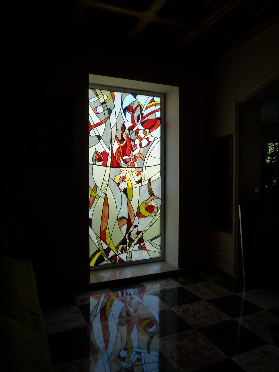 Uni verre vitrail pose vitrail chez un particulier - Verre double vitrage ...