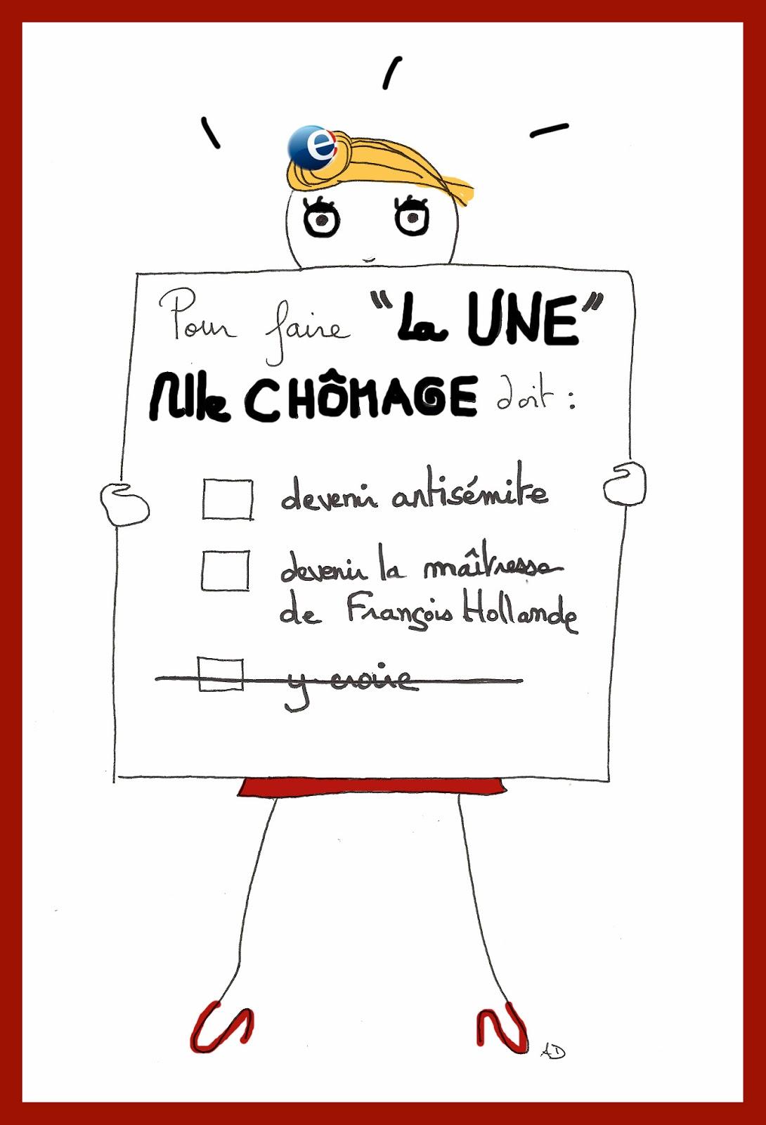 chômage, priorité, dieudonné, julie gayet, françois hollande