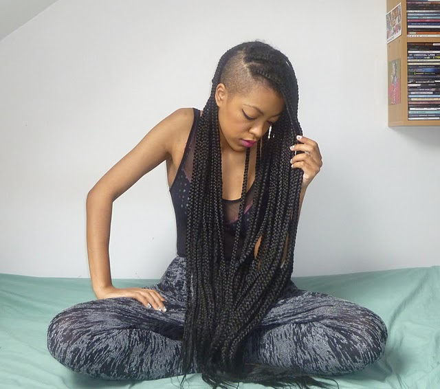 Natural Belle: The Part Shaved Box Braids