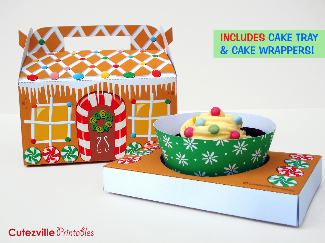 Cutezville printables gingerbread house diy gingerbread house diy printable pronofoot35fo Choice Image
