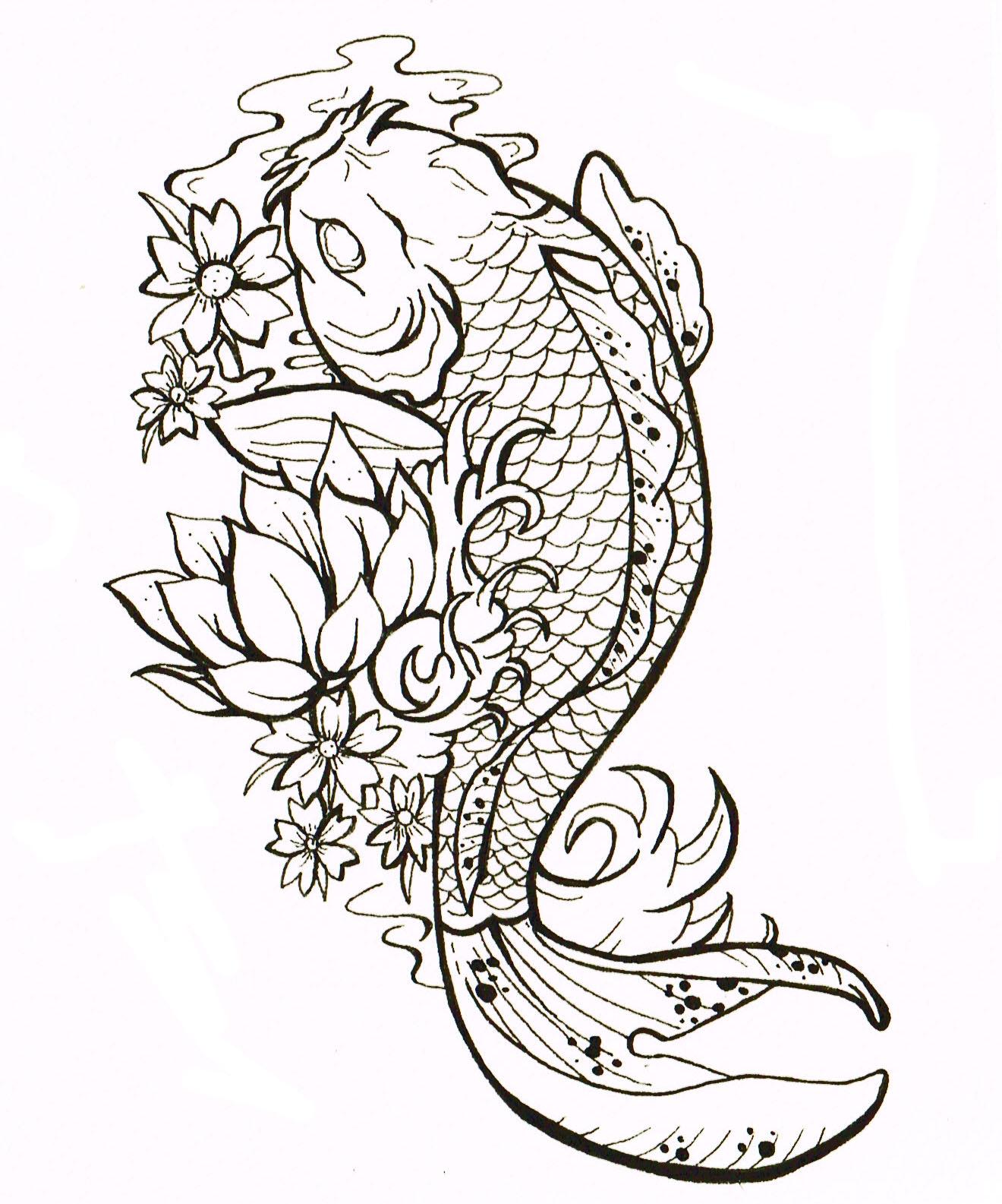 Pic new posts coy carp wallpaper for Coy carp tattoo
