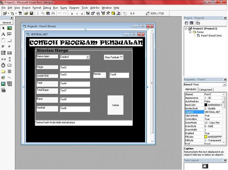 download kumpulan program vbvisual.