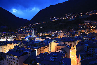 Andorra La Vella at night