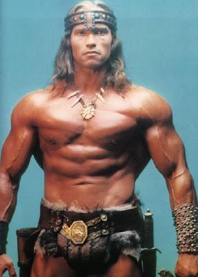"Arnold Schwarzenegger como ""Conan, el bárbaro"""