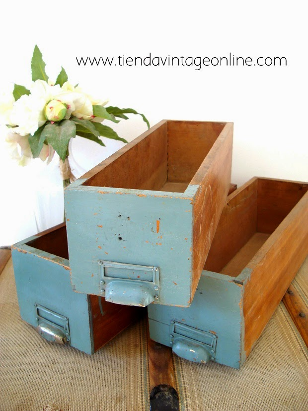 Cajas madera antiguas para decorar