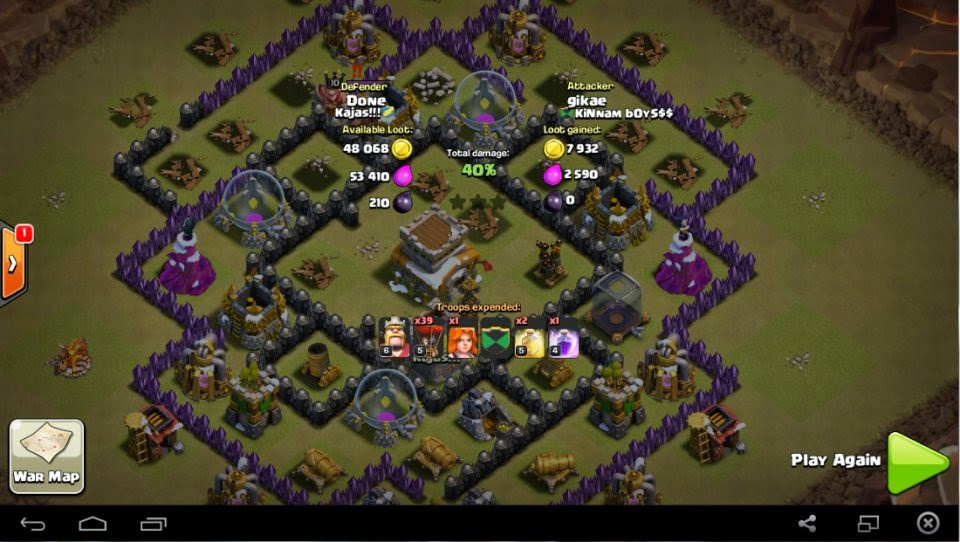 War Base Town Hall Level 8 Anti Ballon Terbaru