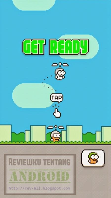 Mulai bermain permainan Swing Copter - Tantangan setelah flappy bird (revv-all.blogspot.com)