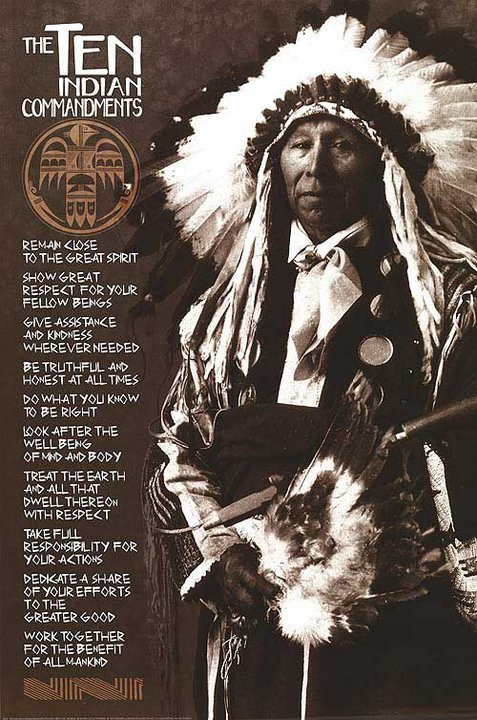 Native American Cherokee Indians Chief