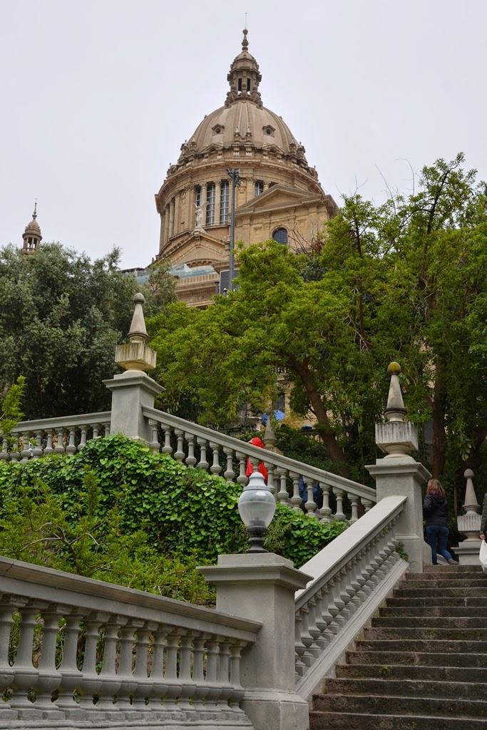 Palau National Barcelona stairs