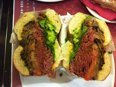 corned beef bagel