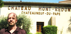 Bill at Chateau Mont-Redon, Chateauneuf-du-Pape, France