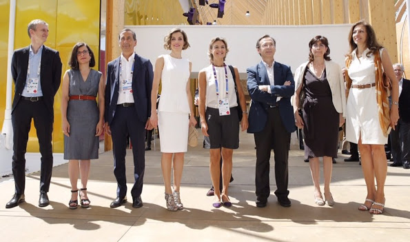 Queen Letizia Visits Expo 2015 In Milan