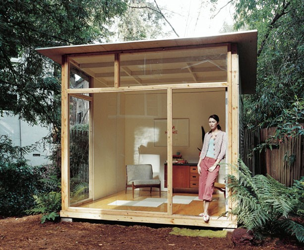Artopiatecture build this backyard retreat now for Building a home office in backyard