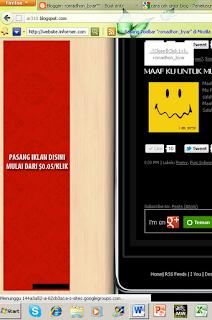 Cara membuat Iklan melayang di samping Blog