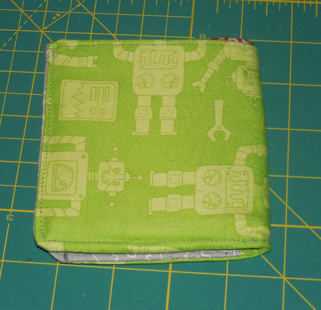 finished wallet with robots
