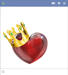 Facebook heart with crown