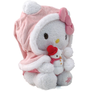 Hello Kitty eskimo costume plush soft toy for Christmas