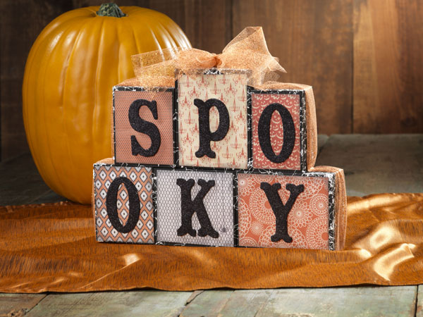 Spooky Blocks @craftsavvy @sarahowens #craftwarehouse #halloween #decor #diy