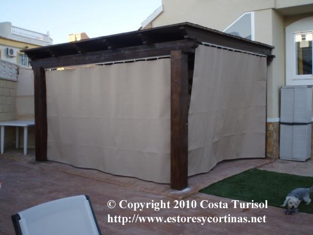 Decoracion interior cortinas verticales estores - Lonas para terrazas ...