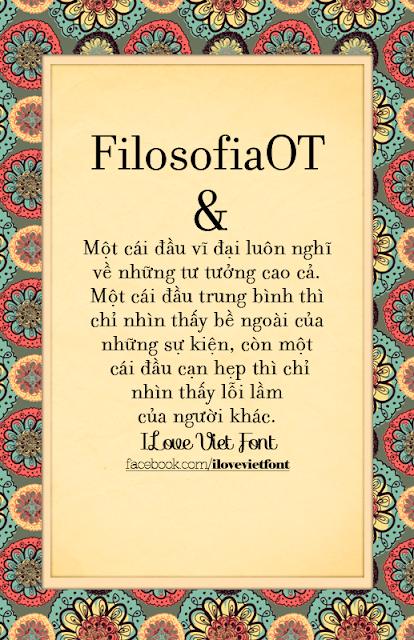 [Serif] VNF Filosofia OT Việt hóa