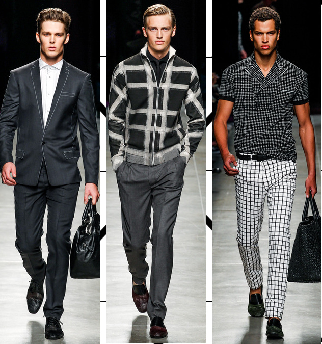 bottega veneta mens spring 2014 graphic suits and sweaters