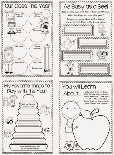 End of year memory book for K-1