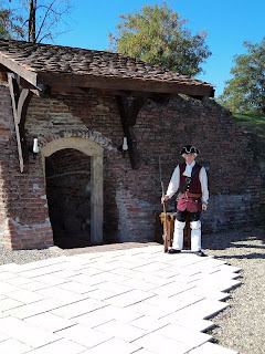 Alba Carolina Fortress sentinel at the entrance to prison