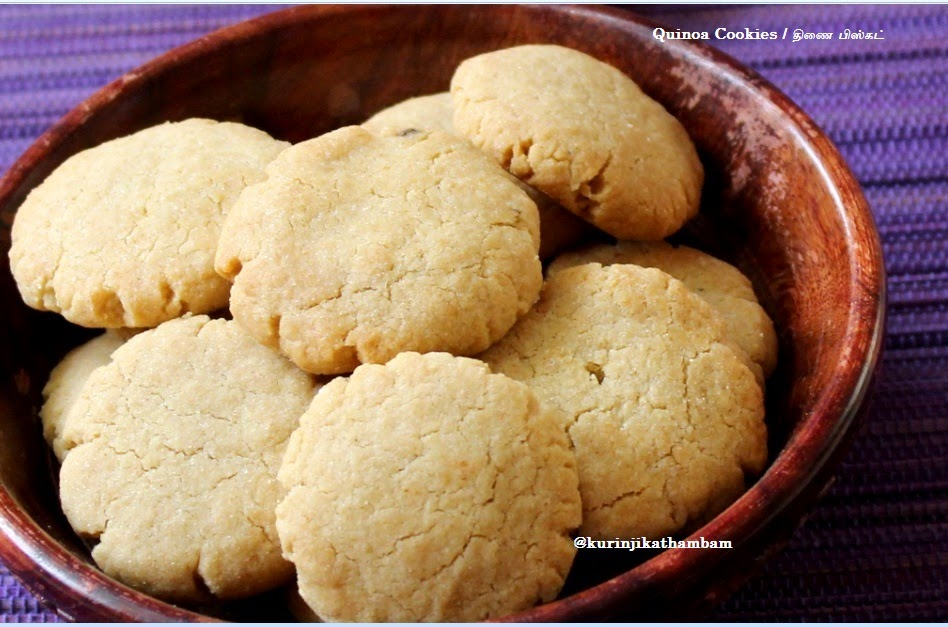quinoa cookies / thinai biscuit - quinoa recipes