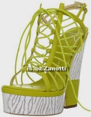 Giuseppe Zanotti Women's E20274 Platform Sandal,Verde Lime