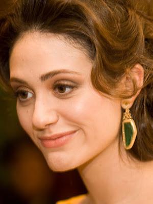 Emmy Rossum Dangling Gemstone Earrings