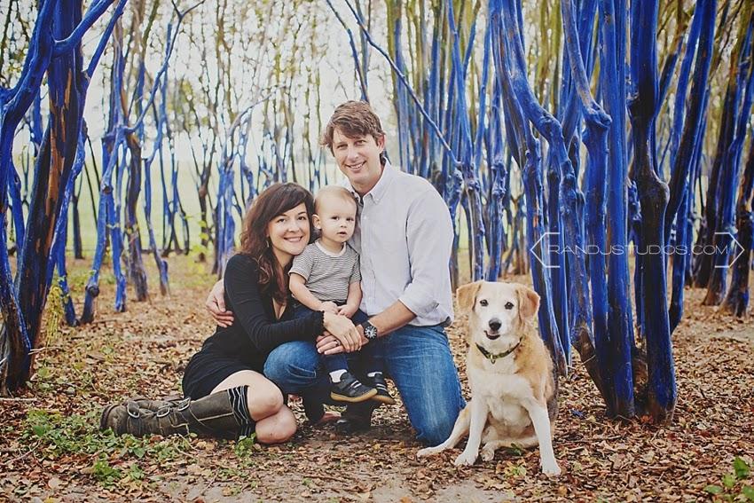 Family Photos the Blue Trees Houston