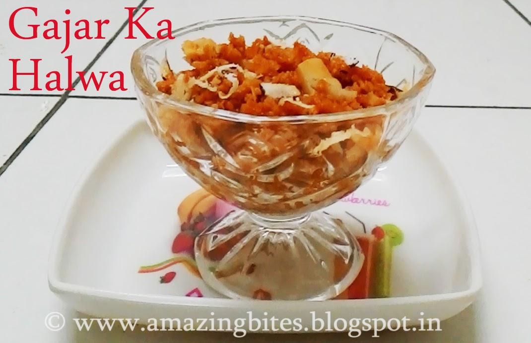 Gajar ka Halwa/ Carrot Halwa (Low Calorie)