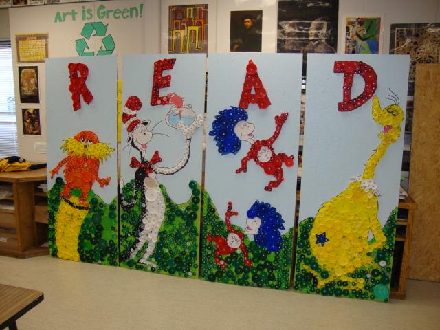 Thomas Elementary Art: 4th Grade Bottle Cap Mural