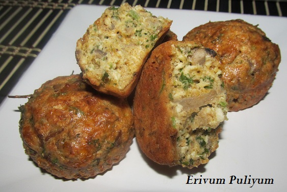 ... Cheese-Egg Muffins (Wheat flour,Mushrooms & Healthy Savory Breakfast