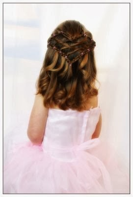 woven heart down hairstyle