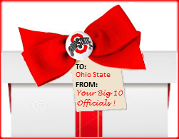 gift box from Big Ten officials to Ohio State