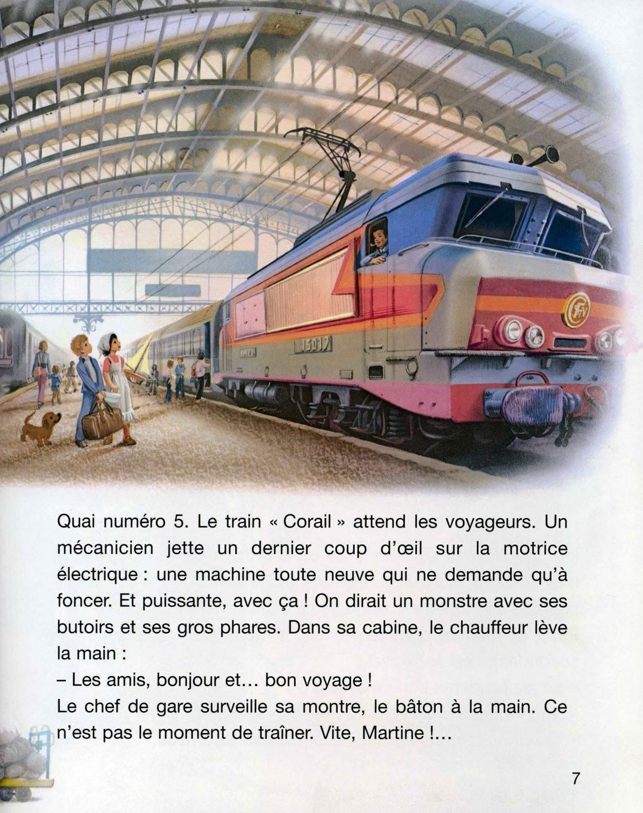 Livres En Francais Heros De A A Z Martine Prend Le Train