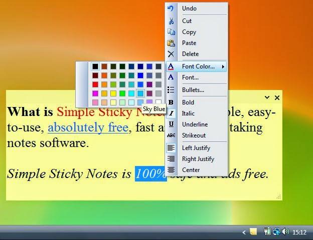 تحميل برنامج كتابة الملاحظات للتذكير Download Simple Sticky Notes