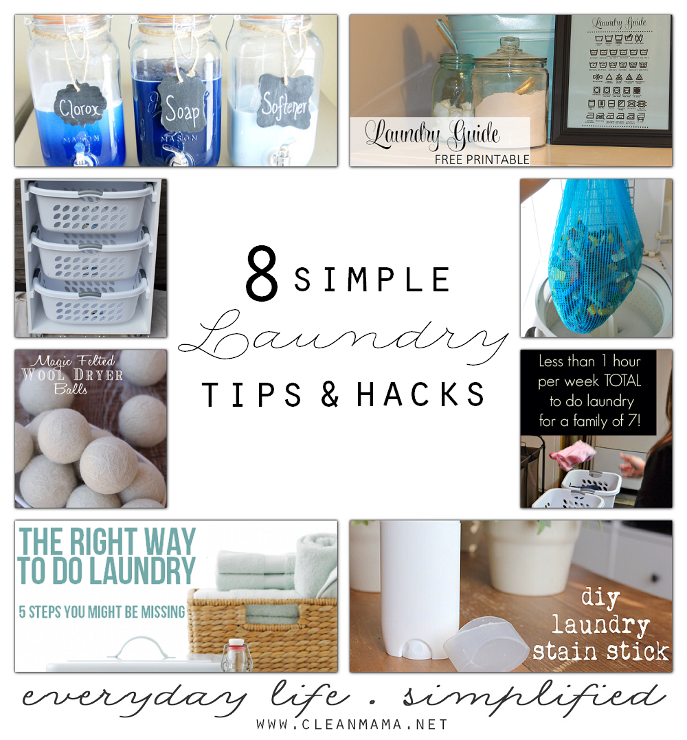 8 Simple Laundry Tips & Hacks