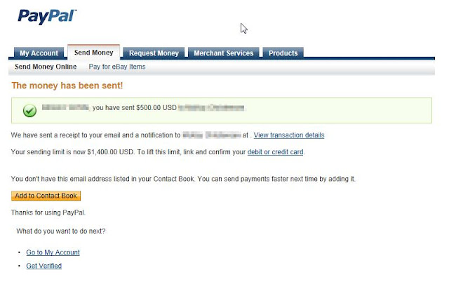 how to make a paypal transfer