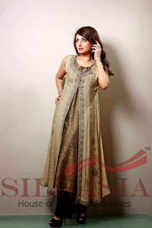 pakistani silk dresses 2014