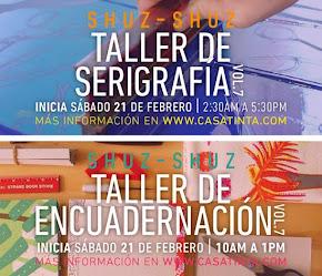 TALLER DE ENCUADERNACIÓN Y SERIGRAFÍA